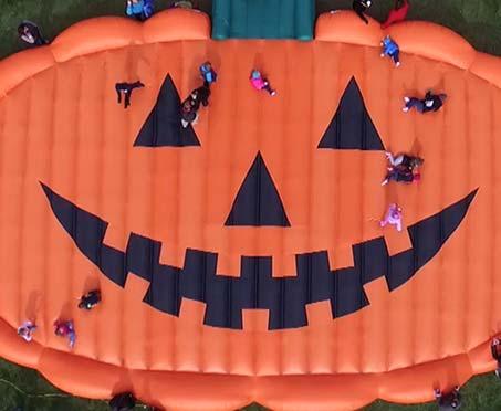 Pumpkin Shaped Custom Bounce Pad