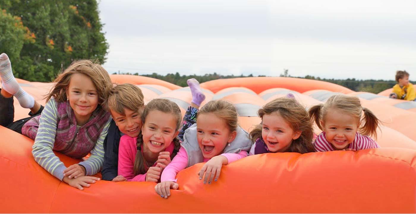 Group of kids on Custom Bounce Pad