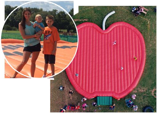 Apple Shaped Bounce Pad
