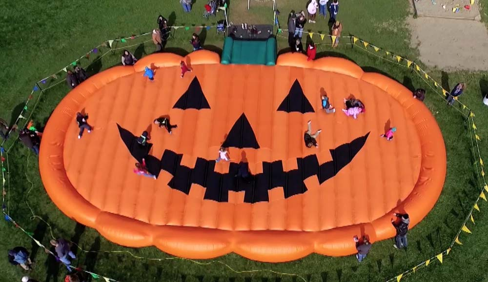 Pumpkin Shaped Custom Bounce Pad